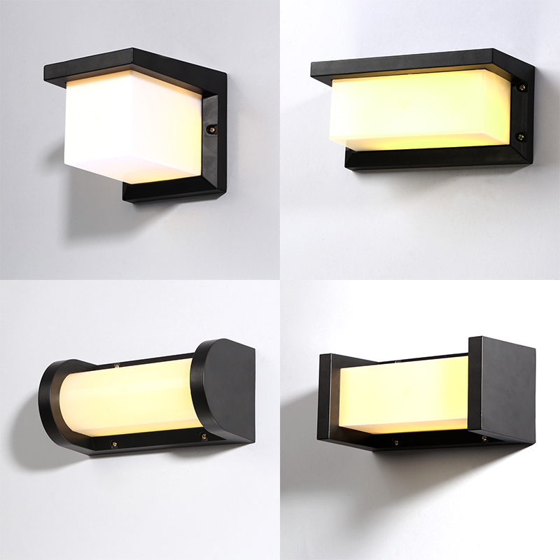 European LED outdoor wall lamp waterproof and dustproof outdoor patio aisle wall lamp modern creative light ya71 ZL384