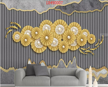 beibehang Custom size 3D stereo Nordic minimalistic round wall decoration gold background papel de parede wallpaper