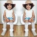 3 colores lindos muchachos de las muchachas del bebé calcetines recién nacidos patrón zorro rodilla calcetines para la edad 0-3 años los niños