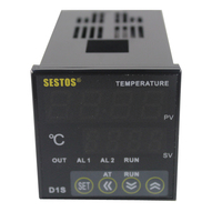 Sestos Dual Digital PID Temperature Controller 2 Omron Relay Output Black D1S 2R 220 PT100