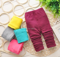 2015 New Wool Lycra Pure Girls High quality spring autumn girl legging pants girls trousers children clothing kids pants 0-2Year