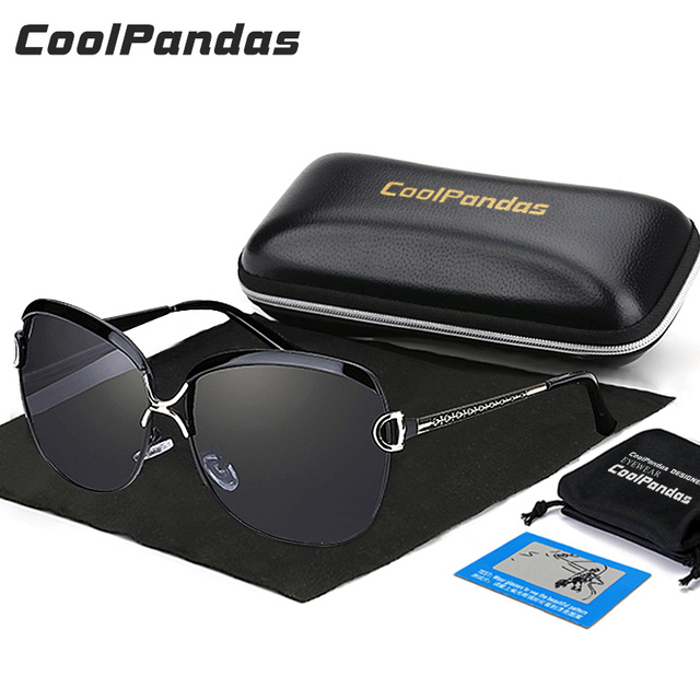 2bff8bcaf91 Coolpandas Brand Designer HD Polarized sunglasses women Retro Metal Frame Sun  Glasses Famous Lady Gift Oculos