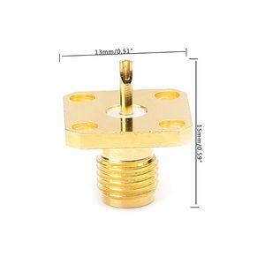 10 шт./компл. SMA гнездо Шасси Панель Крепление 4 отверстия пост терминал RF разъем коаксиальный адаптер 5 мм