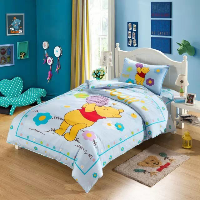 light blue winnie the pooh comforter bedding sets single ...