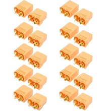 10 Pair/20pcs Female Male XT90 XT-90 Gold Plated Banana Bullet Connector Plugs 4.5mm For RC LiPo Battery