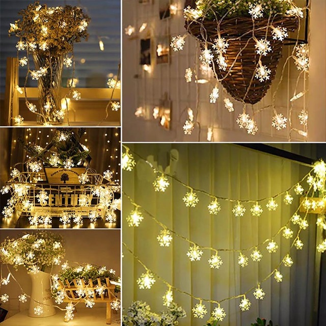10/20/40 LED Lights Christmas Tree Decorations For Home Snow String New  Year 2019 Decoration Wedding Light Halloween Festival - Aliexpress.com : Buy 10/20/40 LED Lights Christmas Tree Decorations