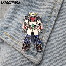 DMLSKY Robot Cool Metal Pins and Brooches for Clothing bags backpack badge Men lapel pin Tie Pins Boys brooch Jewelry M2494 cool robot anime fans gundam backpack zion hero char aznable s custom backpack red and black color for selection ab227