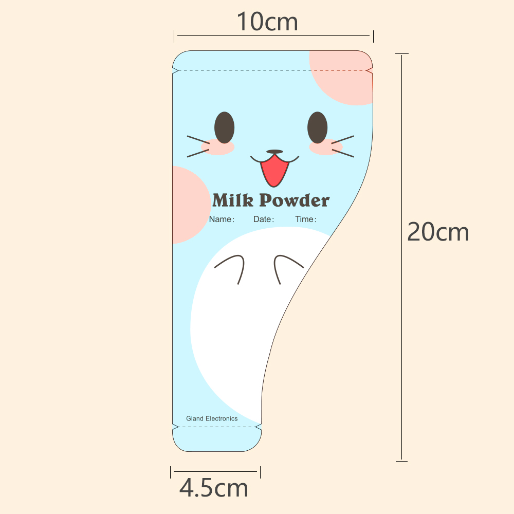 Gl 30pcs Pack Milk Powder Storage Bag Baby Food Cute Design Mark Name And Date Portable For Travel In Formula From