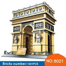 Wange 8021 Architecture PARIS ARC DE TRIOMPHE Series Building Blocks Educational Structure Bricks Toy For Children 21036