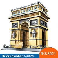 Wange 8021 Architecture PARIS ARC DE TRIOMPHE Series Building Blocks Educational Structure Bricks Toy For Children 21036