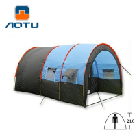 Tunnel 10 Person Tents Large Camping tent Waterproof Canvas Fiberglass 5 8 People Family equipment outdoor mountaineering Party