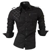 Jeansian мужские повседневные рубашки с длинными рукавами Slim Fit Модные Стильные дизайнерские военные 8371