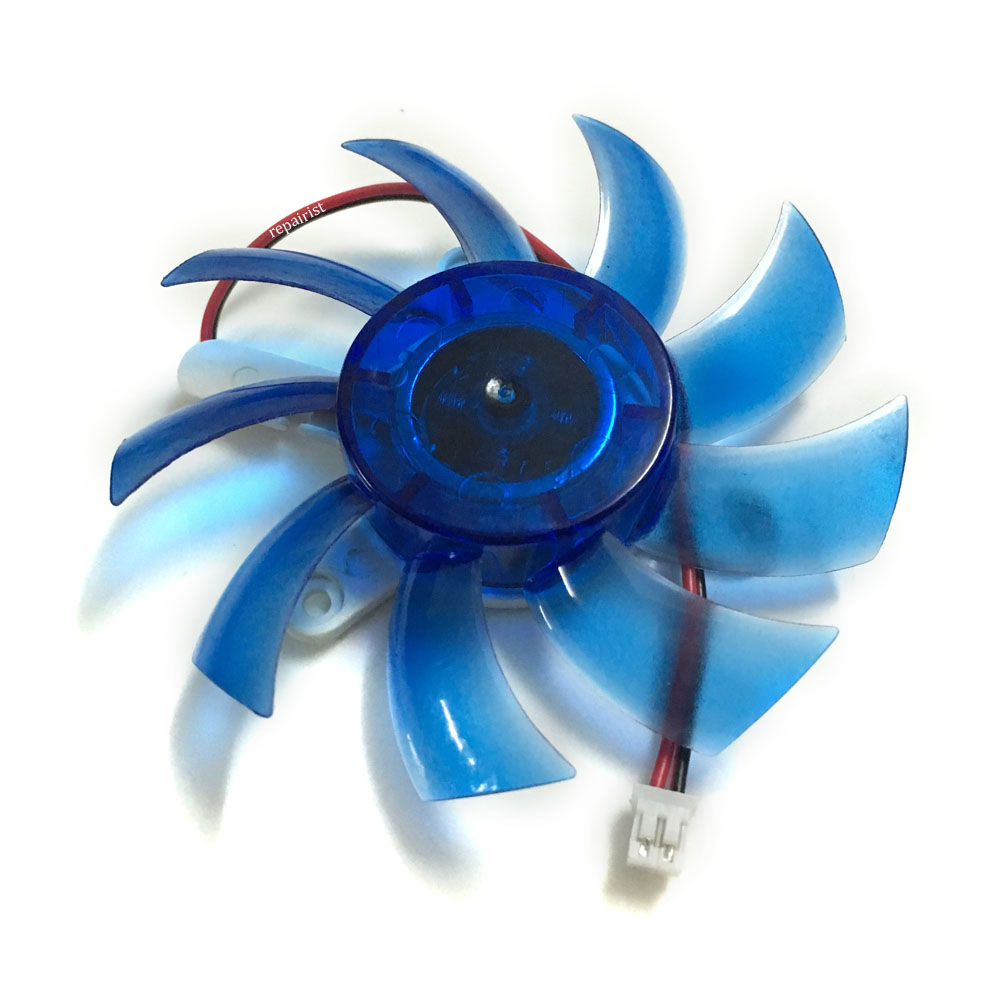 GPU VGA Video Card Cooler Cooling Fan 75mm 12V 2Pin 42MM Mounting Holes Pitch cooler For Colorful Graphics Cards Cooling 1 pieces 65mm dc 2pin 12v computer vga video card heatsink cooler cooling fan