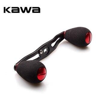 цена на KAWA New Fishing Reel Handle Carbon Fiber for Daiwa Abu Reel EVA Knob Hole size 8*5mm Length 105mm Fishing Reel Rocker Accessory