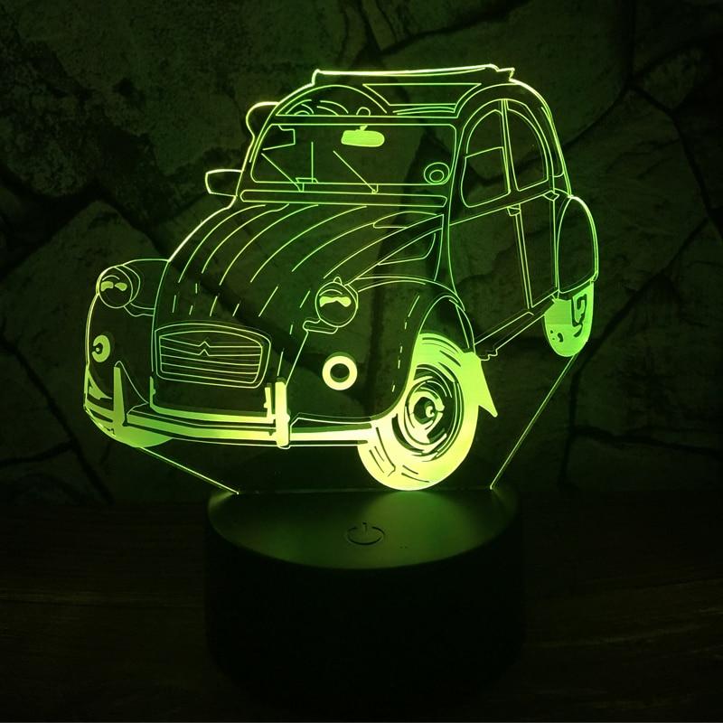 Amroe Claasic Vintage Car 7 Color change lapara lava LED Lamp Table Desk Night Light Decor Boy Kid Christmas Birthday Gift RGB