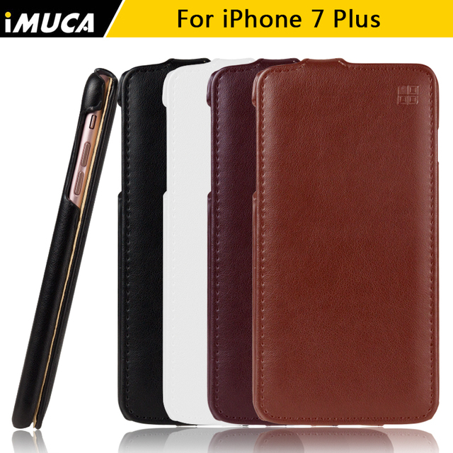 low priced 839d3 ac2a4 US $7.5 |Phone Case for iPhone 7 plus Cover for iPhone 7 plus Case Luxury  Flip Leather Cases Cover Shell Phone Accessories IMUCA brand-in Flip Cases  ...