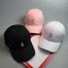 DT623 Dad Hat Wholesale White Black Pink Hip Hop Cap Solid 6panel Snapback Cap Spring Summer Love Gesture Women Men Baseball Cap