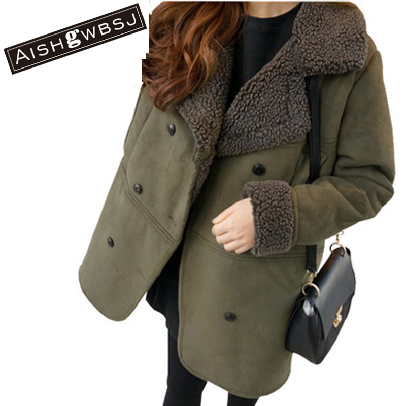 AISHGWBSJ Extra fat plus size ladies fall aon Korean version of the fat sister thicnd winter clothes fat mm cottk coat LL009 чаша дл мультиварки polaris pip 0501 5л