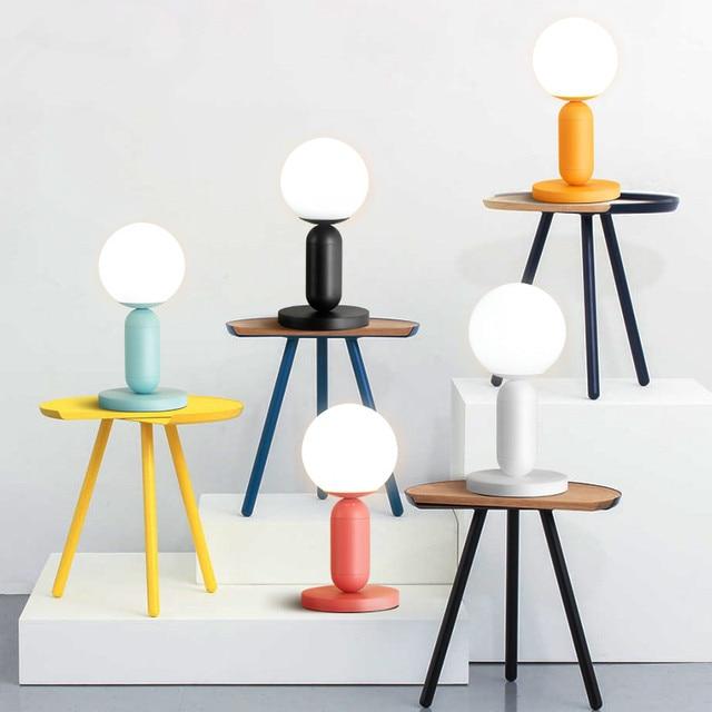 Moderne Lampe De Table Maccaron Led Lampe De Bureau Chambre Salle D