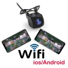 лучшая цена Mini WiFi Car Back Camera 1080P Waterproof Rear View Vehicle Camera 120 Wide Angle Night Vision Backup Parking Dash Cam