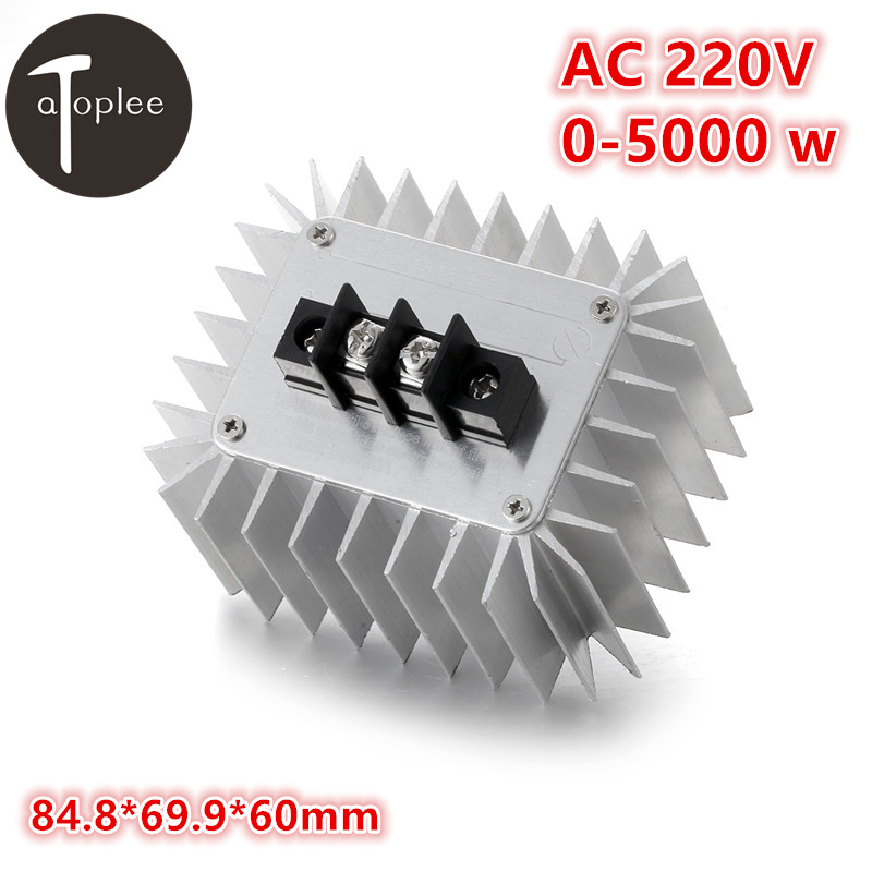 1PC 5000W AC 220V High-Power Electronic Voltage Regulator Switch Regulator SCR 30A Dimming Thermostat Aluminum Shell цена 2017
