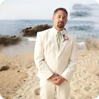 Linen Beach Wedding Men Suits Slim Fit Groom Wear Tuxedos 2 Pieces (Jacket+Pants) Bridegroom Suits Blazer Costume Homme Best Man beige slim fit wedding suits groom tuxedos 2 pieces jacket pants bridegroom men suits best man blazer prom wear