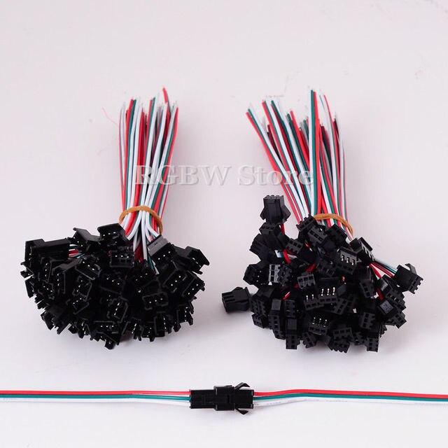1000 paar 3 PIN JST Stecker Kabel Draht Für WS2812B WS2812 RGB LED ...