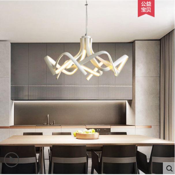 restaurant rectangular modern minimalist three head dining table lamp glass bar chandelier creative personality hotel lamps