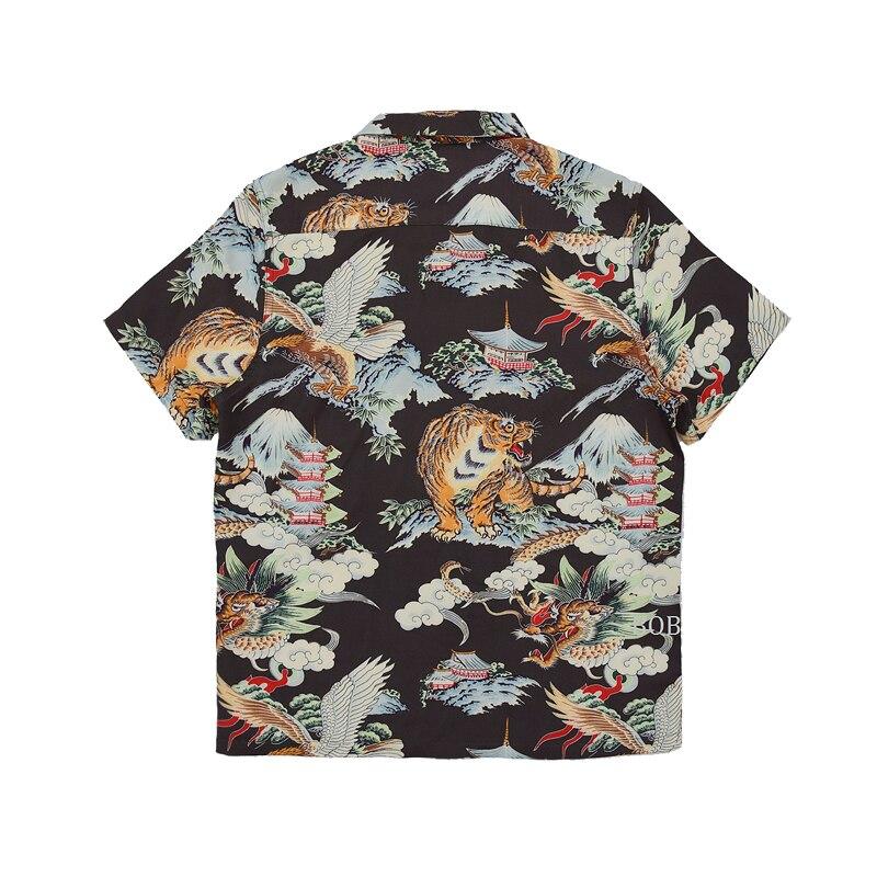Bob dong 남자 빈티지 하와이 알로하 꽃 셔츠 후지산 드래곤 타이거 이글 패턴 하와이 비치 파티 크루즈 루아 셔츠-에서캐쥬얼 셔츠부터 남성 의류 의  그룹 2