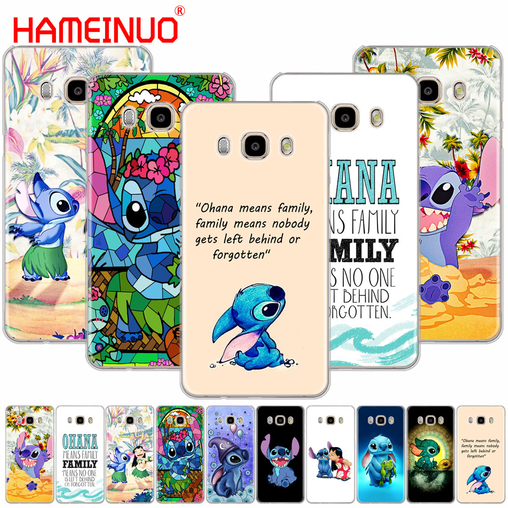 HAMEINUO LILO AND STITCH OHANA FAMIL cover phone case for Samsung Galaxy J1 J2 J3 J5 J7 MINI ACE 2016 2015 prime