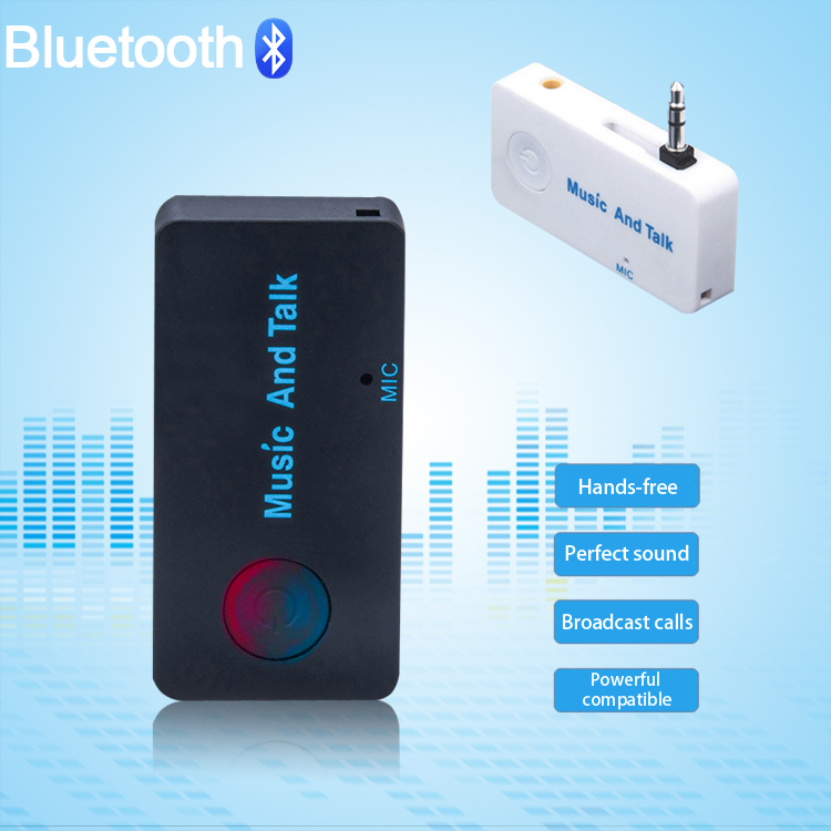 Car Bluetooth Music Receiver With Handsfree: XYCING Wireless Handsfree Bluetooth Car Kit Bluetooth Music Receiver For Mobile Phone TV Tablet