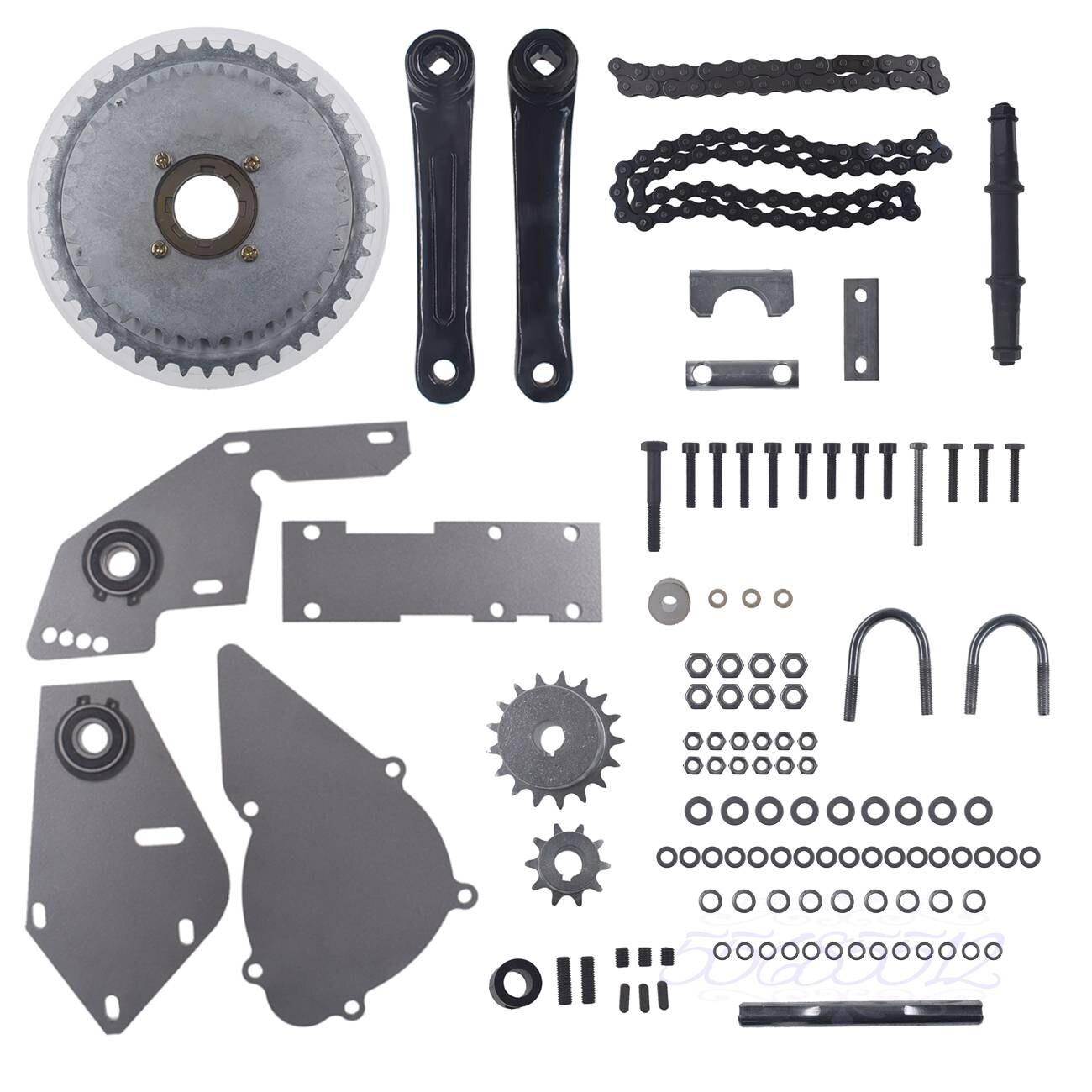 Серебряный комплект Jackshaft для обычной 415 цепи 66cc 80cc велосипед с двигателем на Газу набор переключения передач моторизованный велосипед Ножные стартеры и запчасти      АлиЭкспресс