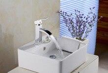 Знаменитый ванная комната раковины водопад смеситель кран с твердой латуни водопад бассейне кран для ванной стиральная кран, сантехники кран