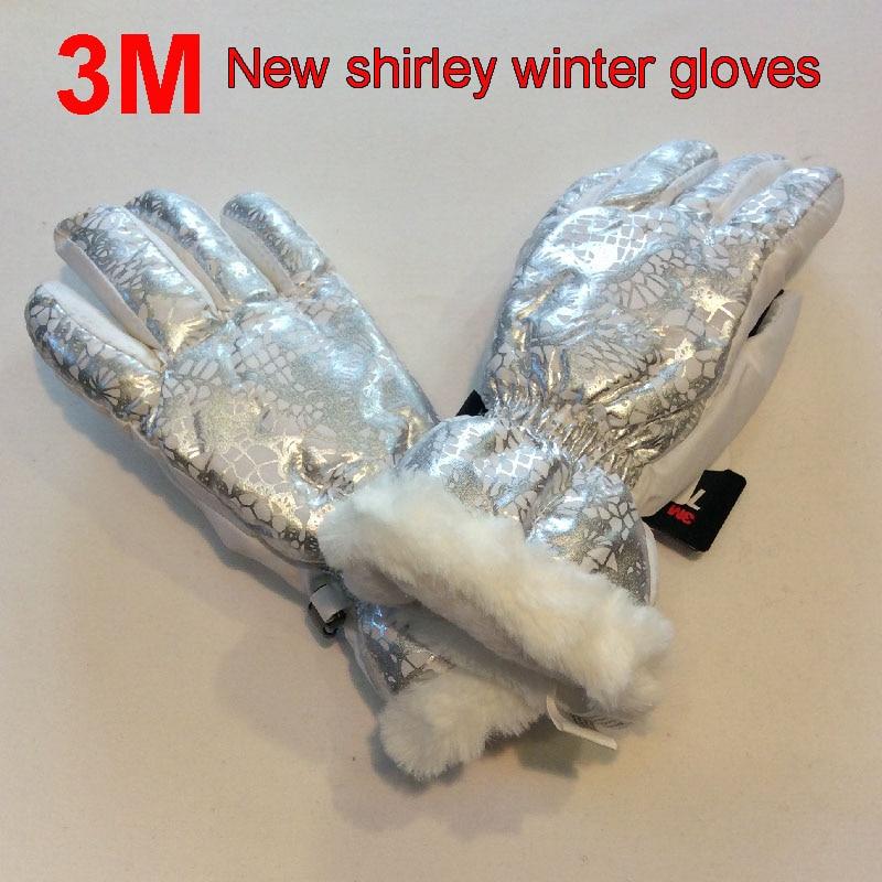 3 Mt Neue Shirley Kind Outdoor-winter Handschuhe Wasserdicht Nicht-slip Plus Samt Verdicken Ski Handschuhe Kleine Größe Kinder Der Handschuhe