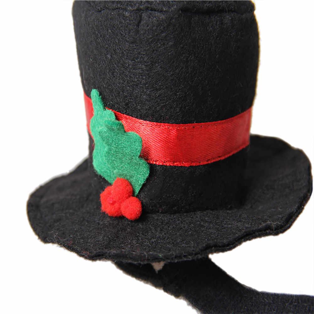 Christmas Top Hat.Christmas Pet Cap Black Gentleman Top Hats Pet Cat Dog Hat For Small Animals Pet Clothes Accessories