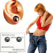 New 1 Pair Healthy Stimulating Acupoints Stud Earring Bio Magnetic Therapy font b Weight b font