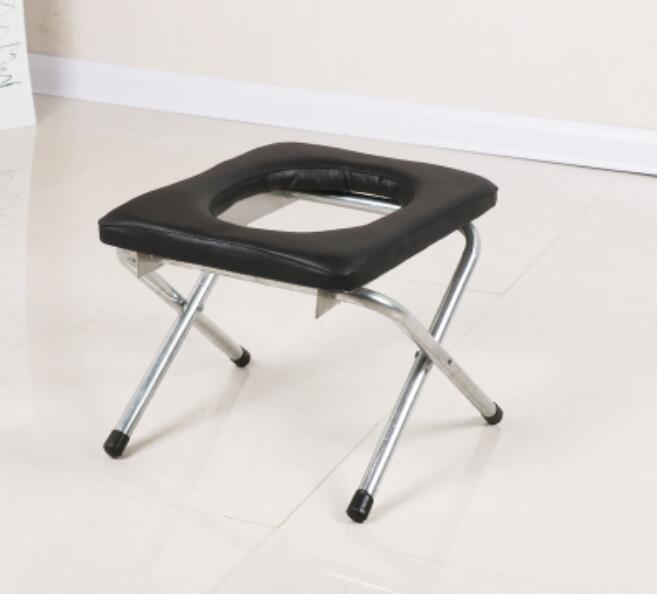 Portable folding skidproof pregnant woman Bathroom Stool Bathing chair The aged Sit stool potty chair bathroom flannel skidproof shore scenery mat