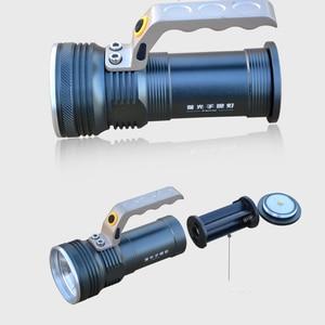Image 5 - 8000LM LED זרקור פנס ארוך טווח בחוץ פנס נטענת עוצמה חיפוש הבזק אור לפיד עם 18650 סוללה