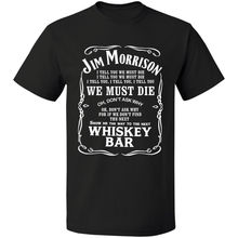 Jim Morrison Whiskey Bar T  Shirt The Doors Legendary Rock Band Free Shipping S-3XL Print T-Shirt Summer Casual Top Tee morrison t home