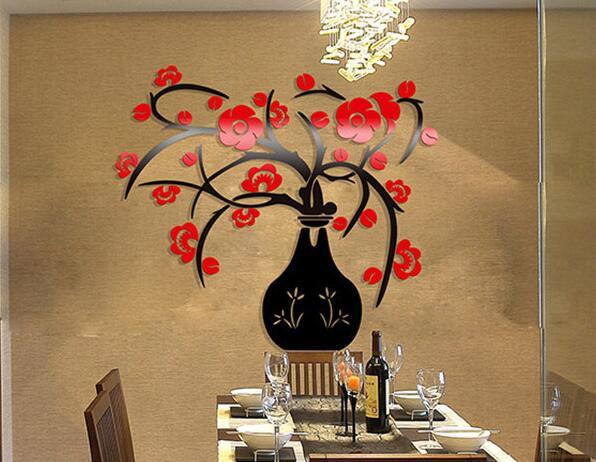 3d Kryształowy Wazon Mei Kreatywna Kuchnia Salon Tle ściany