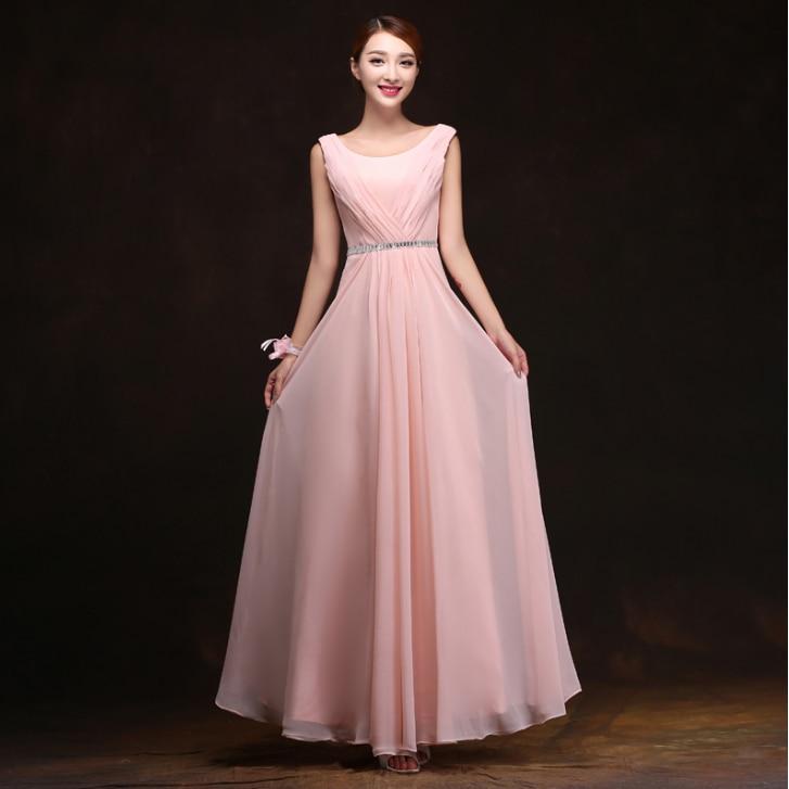 petal pink women\'s formal chiffon evening long beaded dress night ...