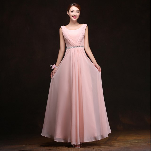 10a09aa23d96f US $35.7 |petal pink women's formal chiffon evening long beaded dress night  gown women engagement dresses womens plus size gowns 2017 1927-in Evening  ...