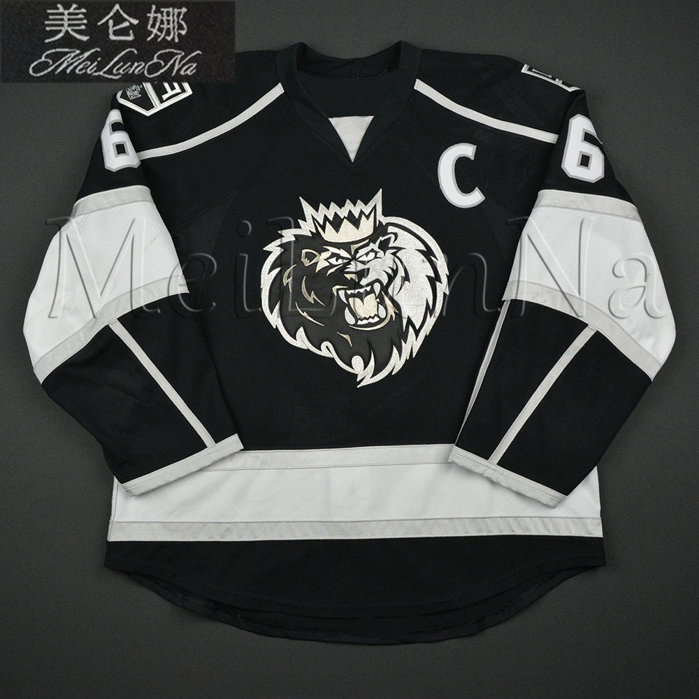 цена на MeiLunNa Custom ECHL Manchester Monarchs Hockey Jerseys 6 David Kolomatis 24 Michael Doherty Home Road Sewn On Any Name NO. Size
