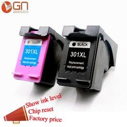 GN Pour hp 301 XL 301xl compatible pour hp 301 cartouche d'encre pour hp Deskjet 1000 1010 1050 2000 2050 3000 3050 4500 4502 4504 4505
