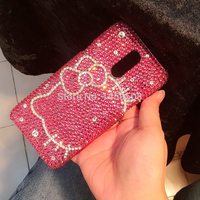 For Oneplus 6 3 3T 5 5T One plus 3 5 6 Crystal phone cases Hello kitty Full Rhinestone Case Diamond Cover