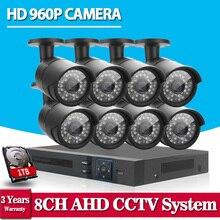 HD 8CH CCTV System 720P 1080P DVR 8PCS 960P 1 3MP 2500TVL IR Outdoor Video Surveillance
