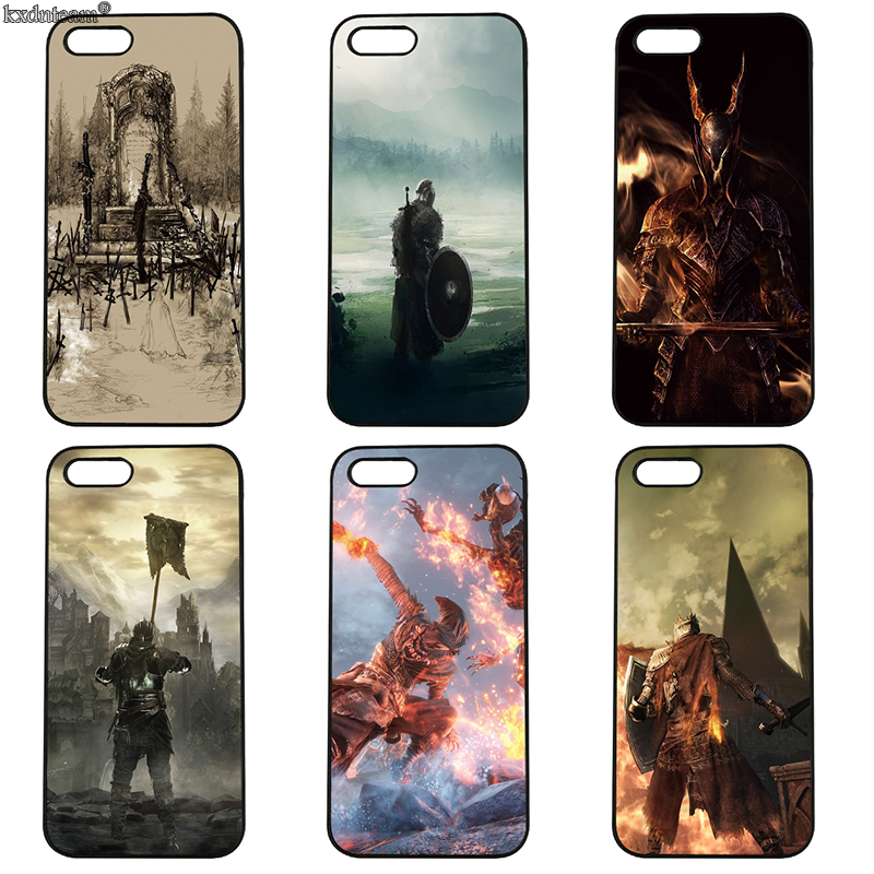 Hot Dark Souls 3 Cell Phone Case Hard PC Plastic Cover Fitted for iphone 8 7 6 6S Plus X 5S 5C 5 SE 4 4S iPod Touch 4 5 6 Shell