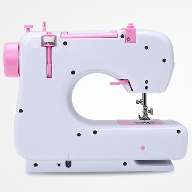 Новая швейная машина бытовая многофункциональная двойная нить и скоростная свободная рука крафт машина для починки портативная 2 скорости ... - 4