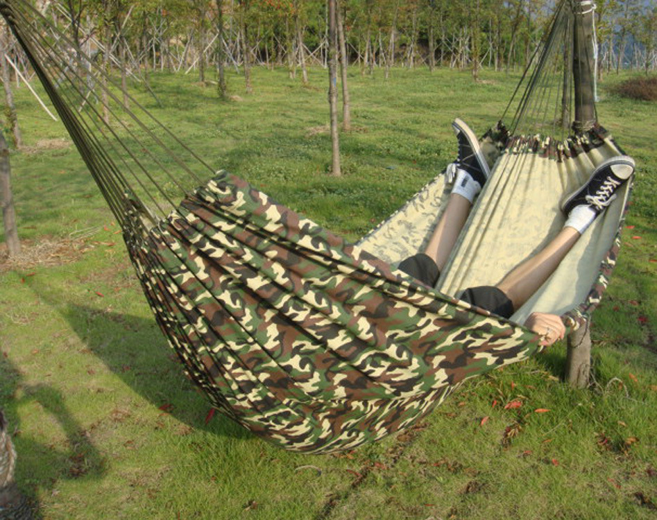 Multifunctional hammock outdoor camping portable hammock thick camouflage canvas Double picnic mat 150x 200cm