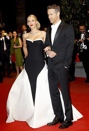 Black and white dress red carpet